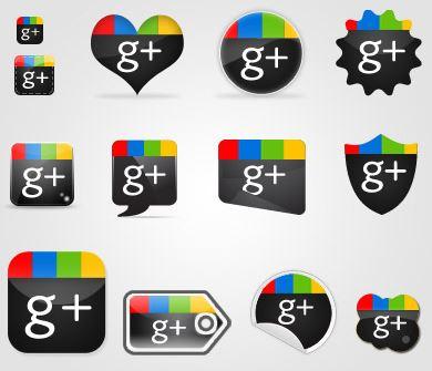 google plus psd - Google Plus Psd İkon Seti İndir