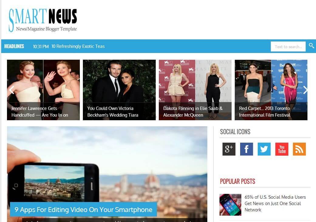 Blogger Smart News Haber Teması