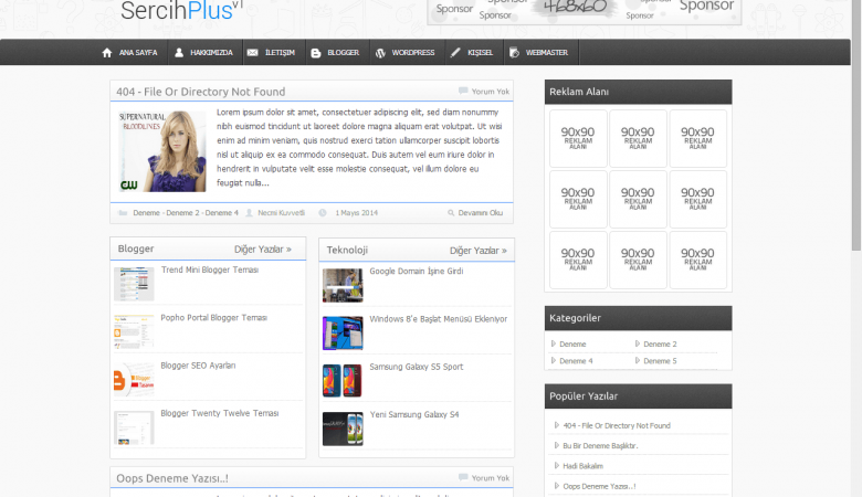 Sercih Plus v1 Blogger Teması
