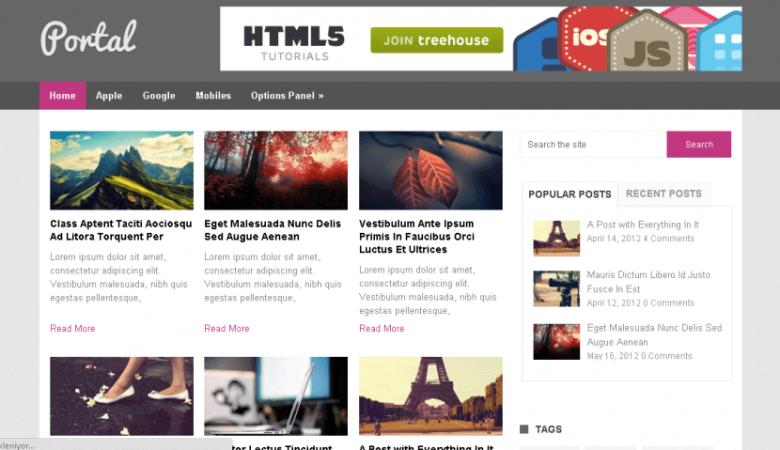 portal 1024x479 780x450 - Ücretsiz Wordpress Portal Teması
