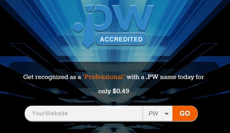 pw domain 780x450 - Ücretsiz .pw Domain Almak