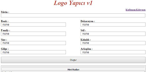 logomaker - CSS ile Logo Yapma Scripti - PHP