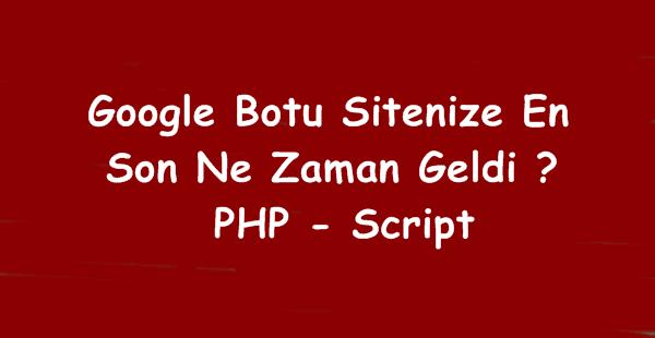 Google Botu Sitenize Son Ziyareti (Script)