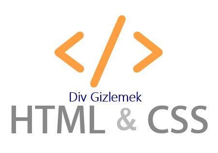 html css - Belli Çözünürlüklerde div Gizlemek